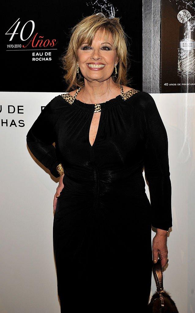 María Teresa Campos en la Embajada de Francia el 14 de abril de 2010 en Madrid, España. | Imagen: Getty Images