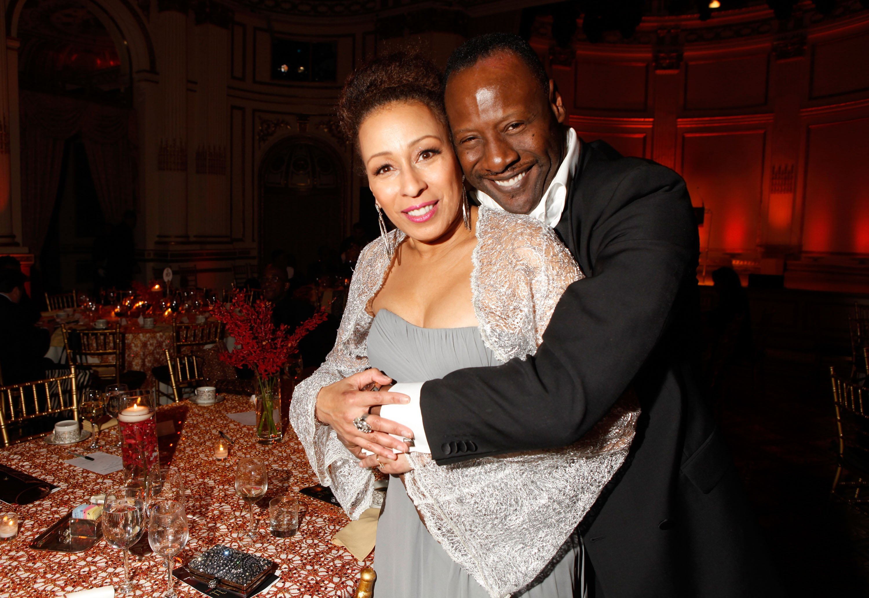 Tamara Tunie and Gregory Generet at the Torch Ball hosted by Evidence, A Dance Company. | Source: Getty Images