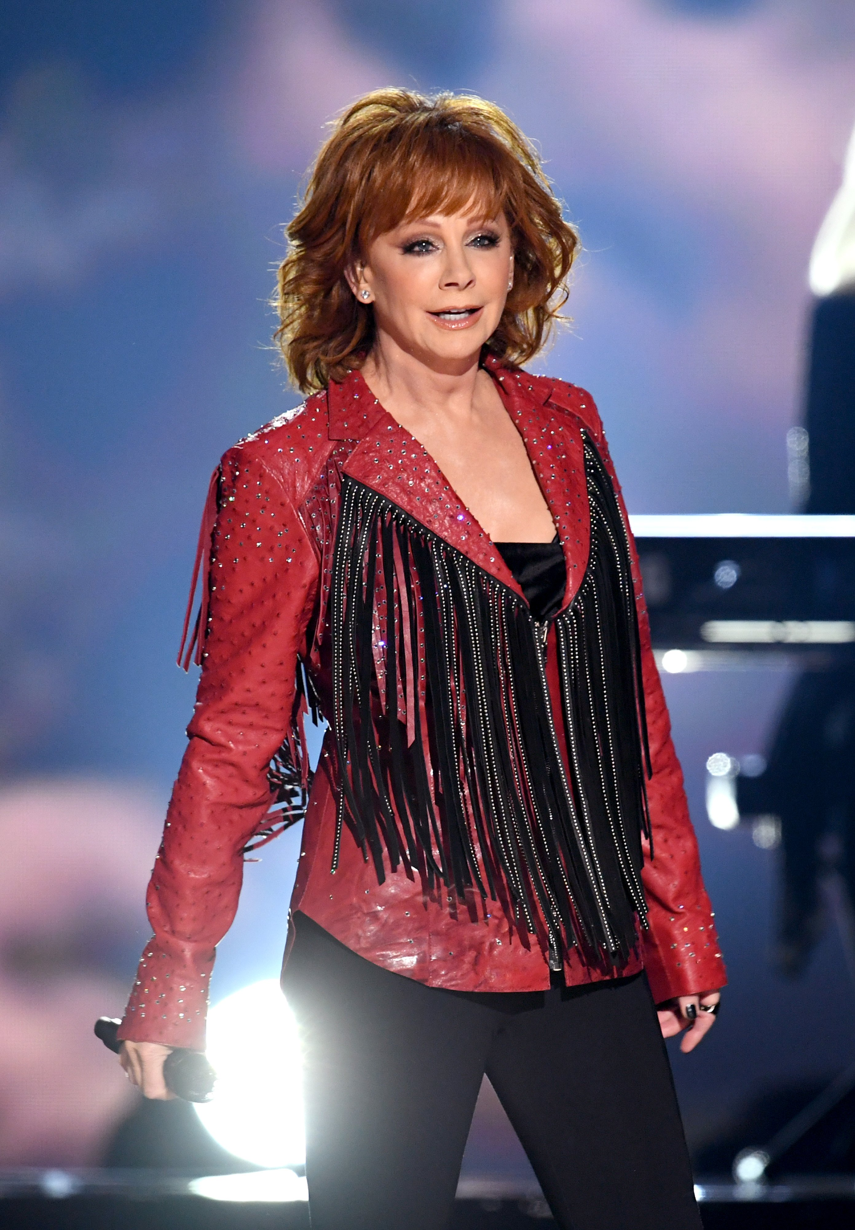 Reba McEntire performs during the 54th Academy Of Country Music Awards on April 07, 2019, in Las Vegas, Nevada. | Source: Getty Images.