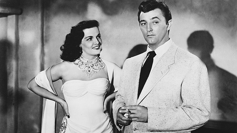 """Jane Russell and Robert Mitchum in the film """"Macau"""", 1952. 