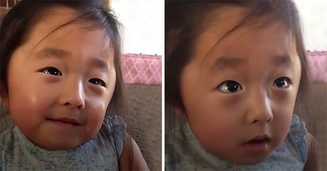 Cute Throwback Video Shows Little Girl Recall Her Heart Falling in Love with Adoptive Parents