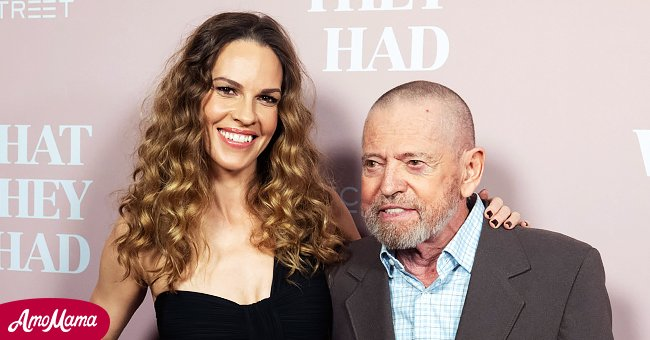 """Hilary Swank and dad Stephen Michael Swank at the Los Angeles Special Screening of """"What They Had"""" at iPic Westwood on October 9, 2018.   Photo: Getty Images"""