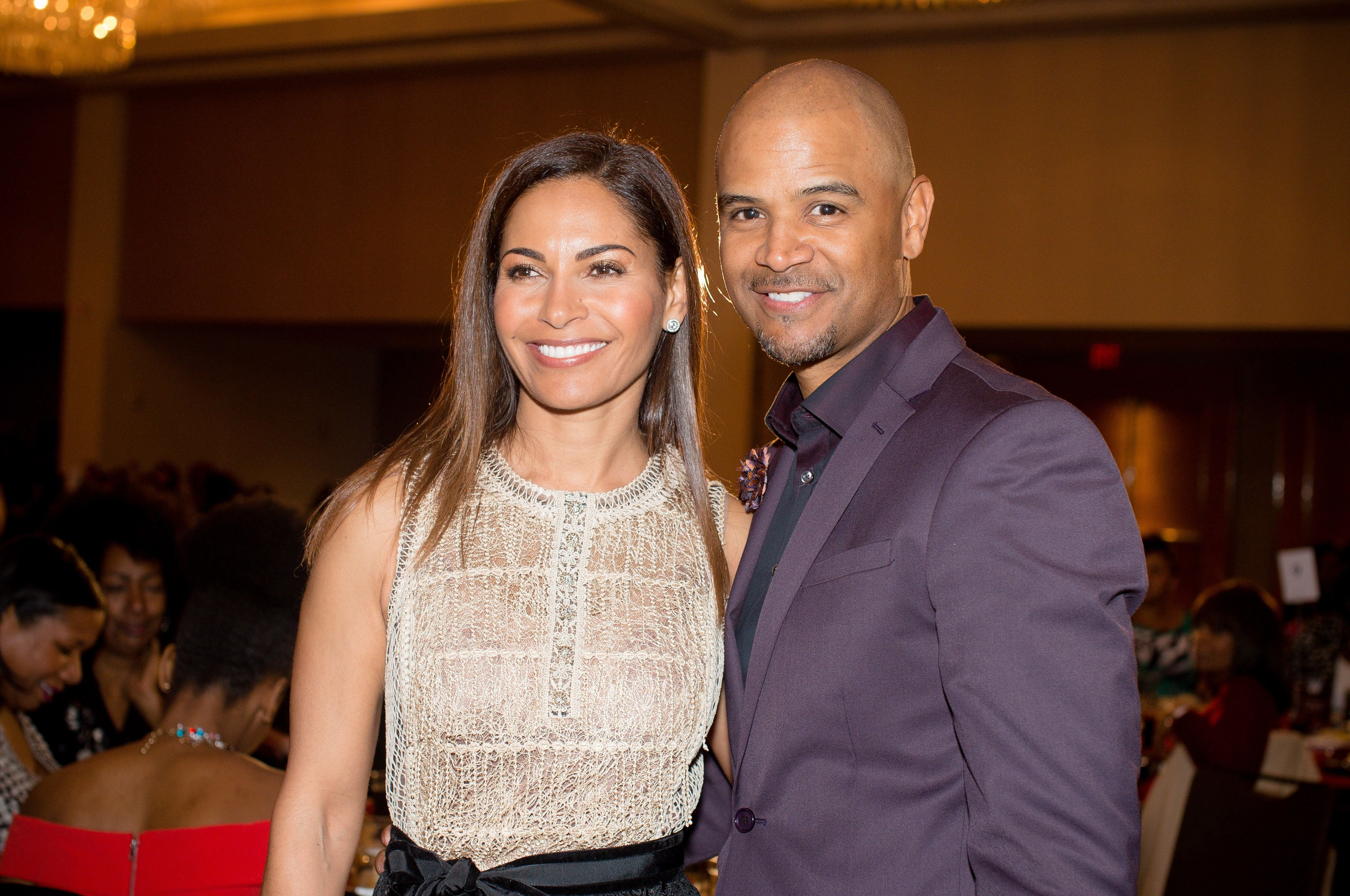 Salli Richardson Whitfield and Dondre Whitfield at the 2017 Black Women Film Summit awards luncheon at Atlanta Marriott Marquis on March 3, 2017 | Photo: Getty Images