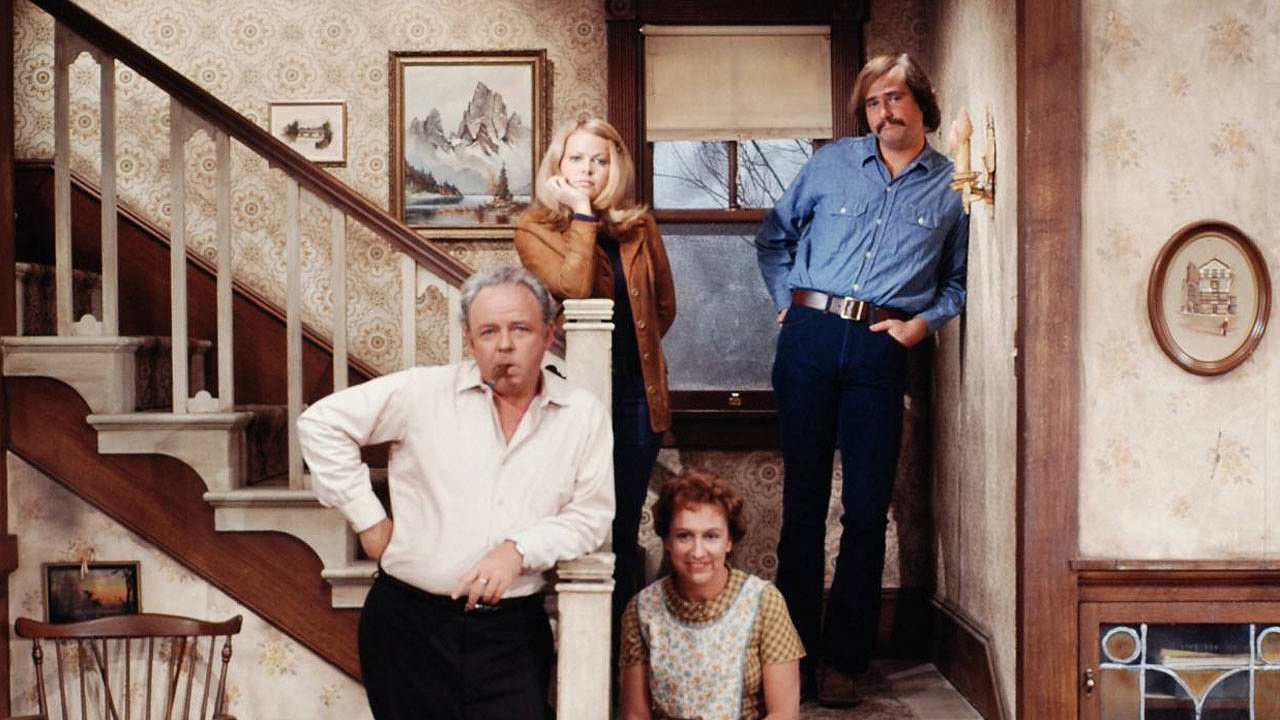 """The cast of """"All in the Family"""" including Jean Stapleton and Carroll O'Connor, image uploadedon August 30, 2013   Photo: Flickr/Kipp Teague"""