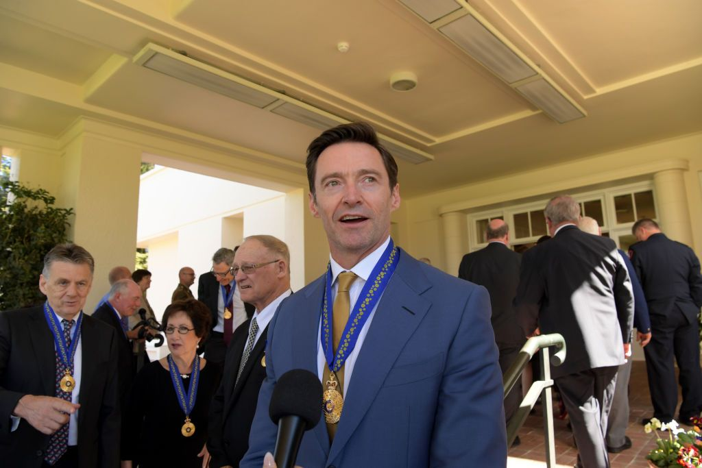 Hugh Jackman after being awarded an Order of Australia at Government House on September 13, 2019, in Melbourne, Australia | Photo: Tracey Nearmy/Getty Images