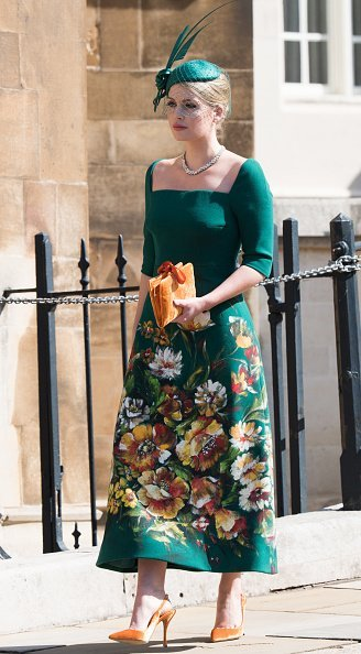 Lady Kitty Spencer attends the wedding of Prince Harry to Ms Meghan Markle at St George's Chapel | Photo: Getty Images