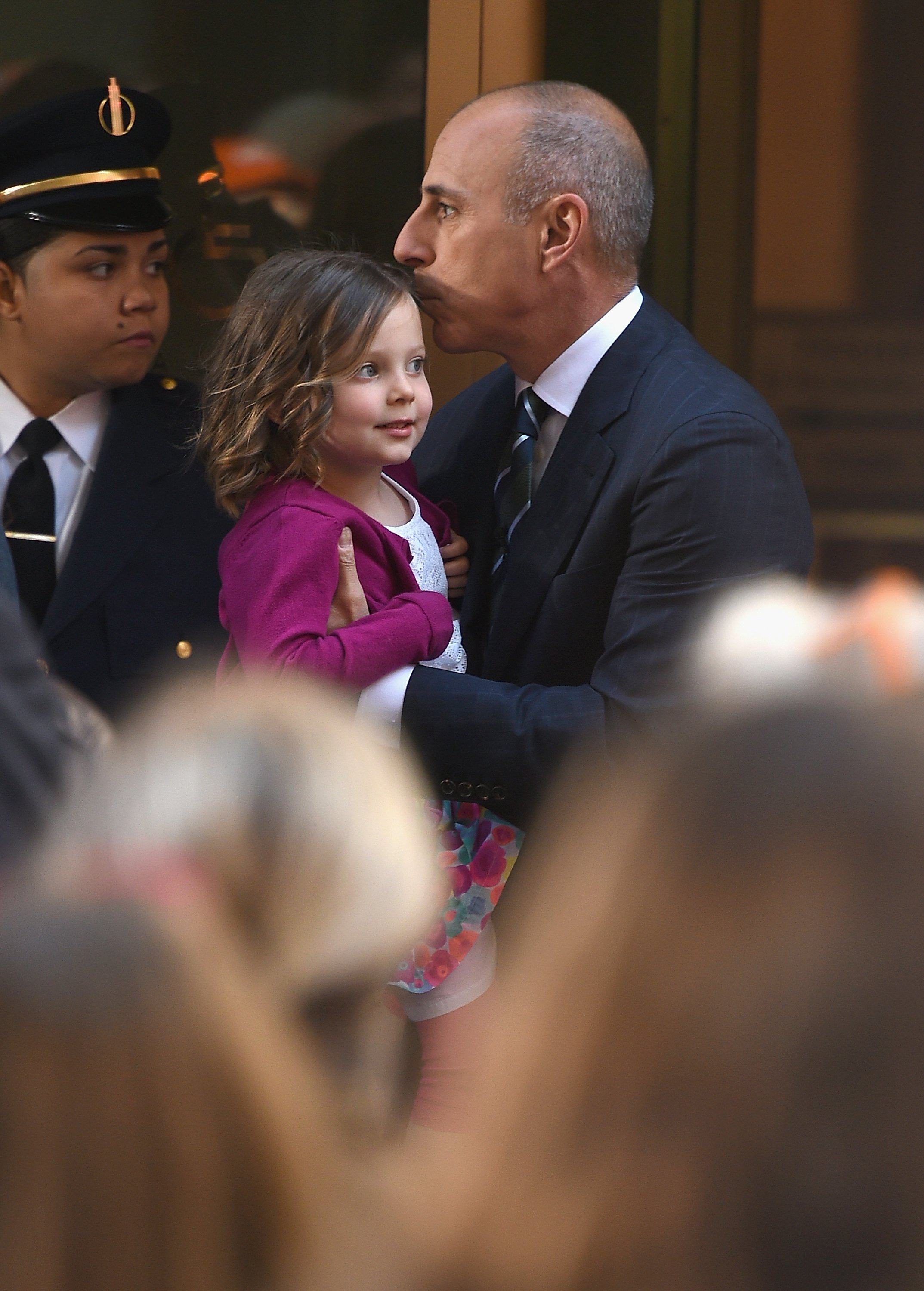 Matt Lauer and his daughter at NBC's Today on May 22, 2015 in New York   Photo: Dimitrios Kambouris/Getty Images