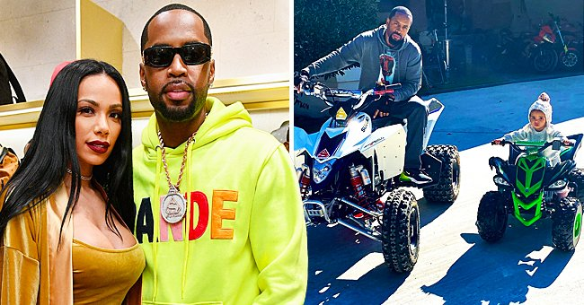 L&HH's Safaree Teaches His & Erica Mena's 1-Year-Old Daughter How to Ride on a Green Mini ATV