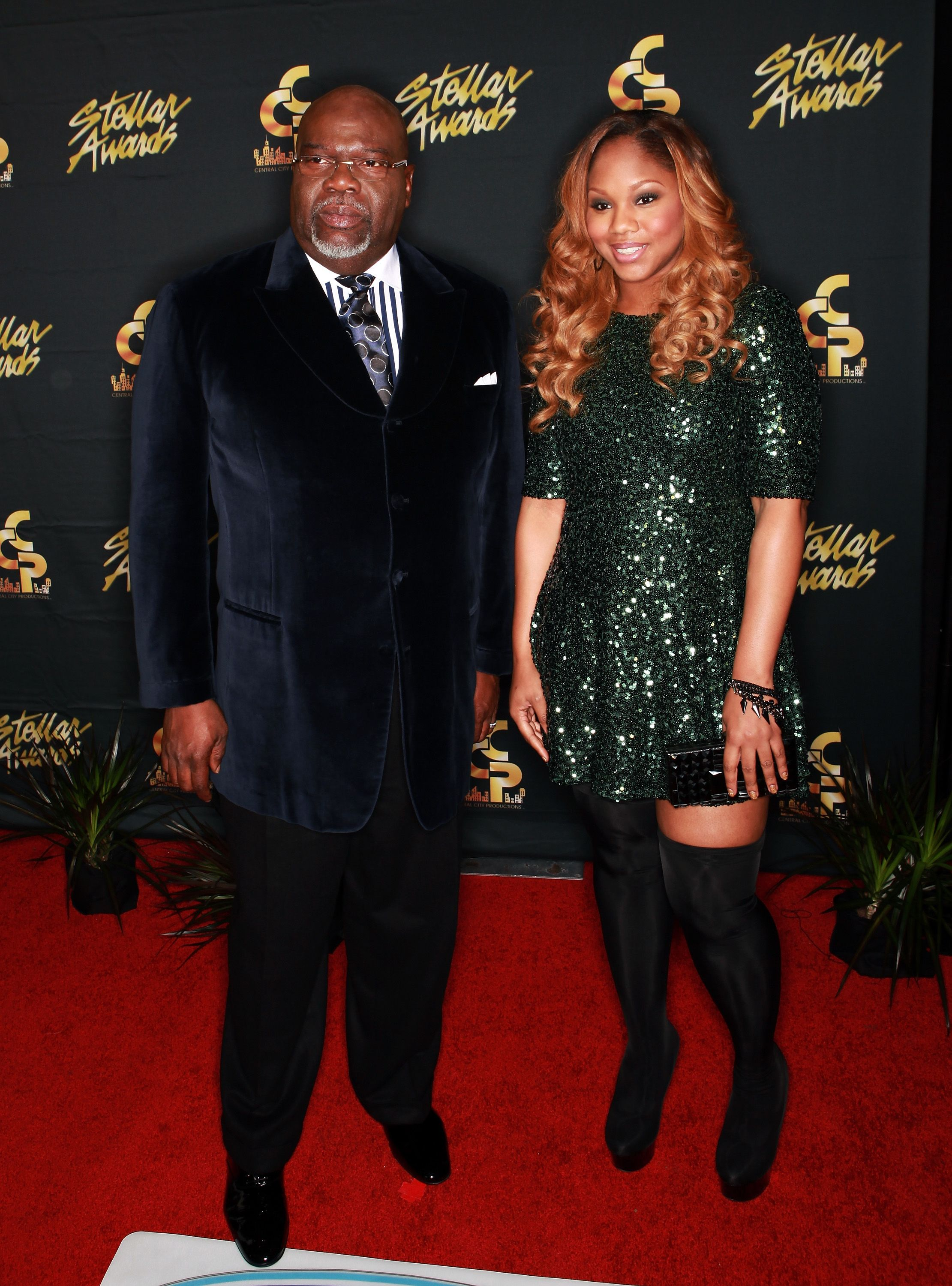 T.D. Jakes and his daughter at the Annual Stellar Awards on January 19, 2013 in Nashville.   Photo: Getty Images
