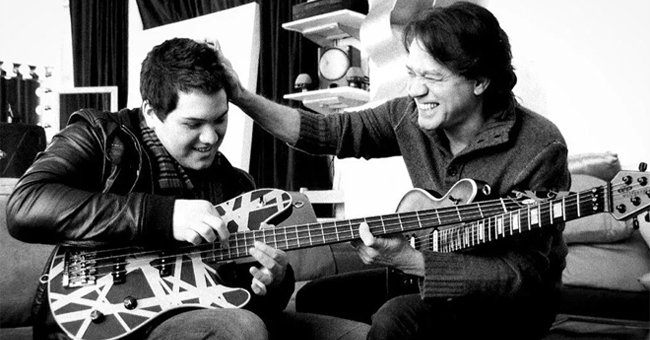 Eddie Van Halen's Son Wolf Remembers Late Father 1 Day after He Passed with a Throwback Photo
