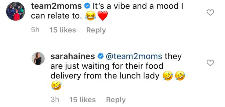Sara Haines' reply to a comment made on her Instagram post | Photo: Instagram/sarahaines
