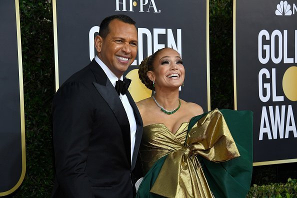 Alex Rodriguez and Jennifer Lopez arrive to the 77th Annual Golden Globe Awards held at the Beverly Hilton Hotel on January 5, 2020.| Photo:Getty Images