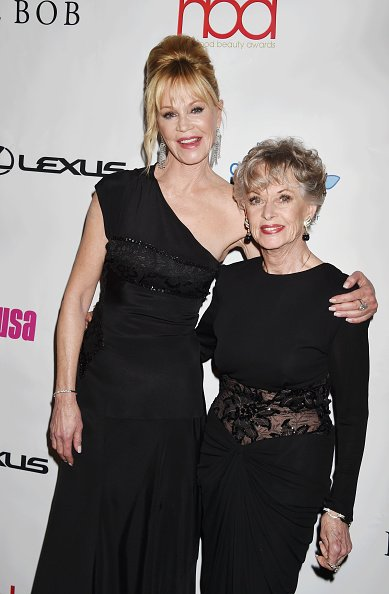 Actress Melanie Griffith (L) and mother actress Tippi Hedren attend the 2nd Annual Hollywood Beauty Awards benefiting Children's Hospital Los Angeles at Avalon Hollywood on February 21, 2016 in Los Angeles, California | Photo: Getty Images