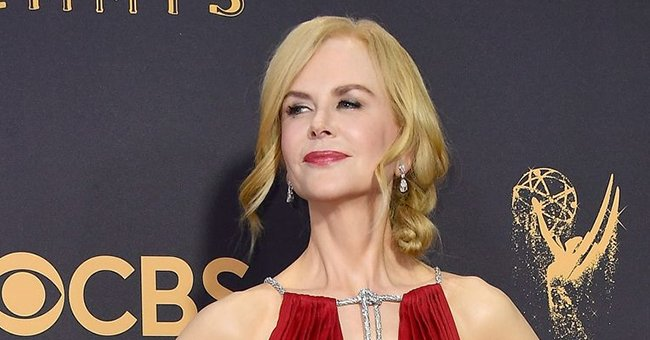 Nicole Kidman Looks Ageless in a Bathrobe Posing on a Couch with Her Rescued Cat Louis