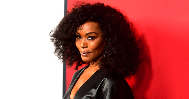 Angela Bassett of 'Black Panther' Rocks Plunging Leather Outfit as She Celebrates AHS' 100th Episode in Pic