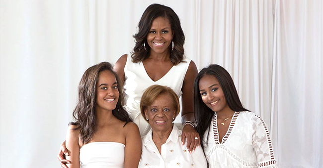 Michelle Obama, Her Mom, Daughters Malia & Sasha Pose in All-White for Mother's Day Photo