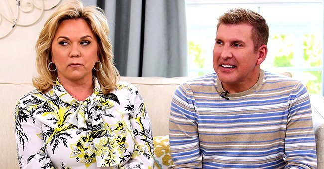 Todd Chrisley and his wife Julie at an interview | Source: Getty Images/GlobalImagesUkraine