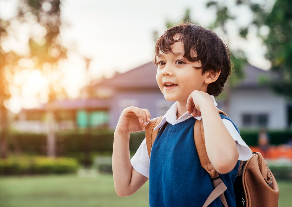 A photo of a young boy going to school.   Photo: Shutterstock