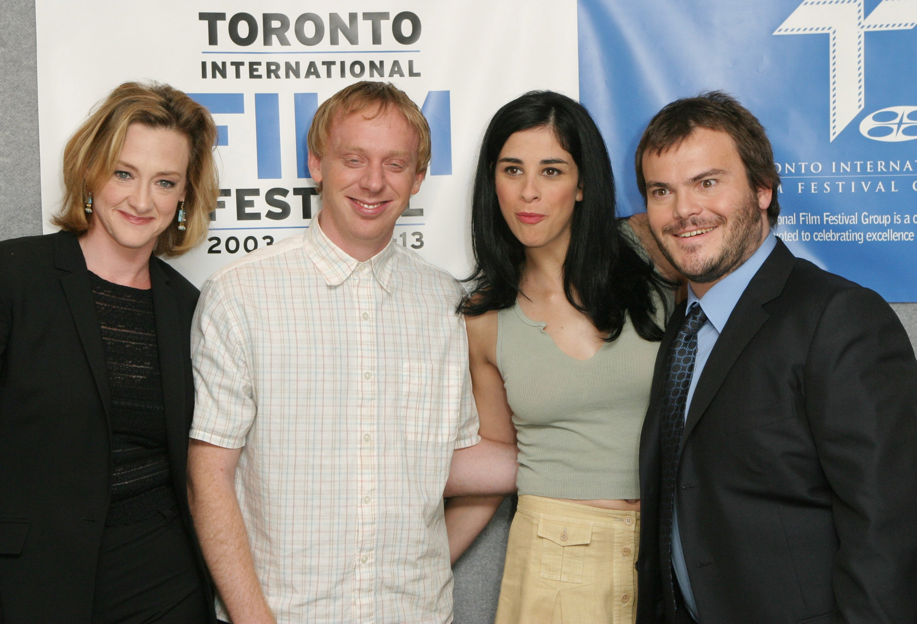 Joan Cusack, Mike White, Sarah Silverman & Jack Black at the Toronto film festival in 2003 | Photo: Getty Images