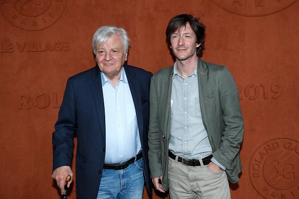 L'acteur Jacques Perrin et son fils Mathieu Simonet à Roland Garros le 08 juin 2019 à Paris, France. | Photo : Getty Images