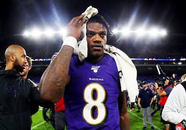 Lamar Jackson at M&T Bank Stadium on January 11, 2020 in Baltimore, Maryland. | Photo: Getty Images