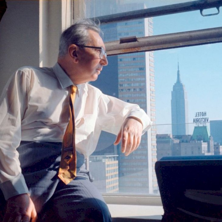 (Photo by Imagno/Getty Images) [Viktor Frankl in New York, USA, Photographie, Um 1968]