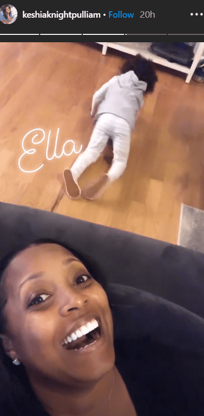 Keshia Knight Pulliam and her daughter Ella Grace playing and goofing around the house amid Coronavirus pandemic | Photo: Instagram/Keshiaknightpulliam