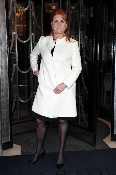 Sarah Ferguson arrives at Claridge's for the Hello! Mother & Daughter Afternoon Tea event to mark the International Day of the Girl in London, England | Photo: Getty Images