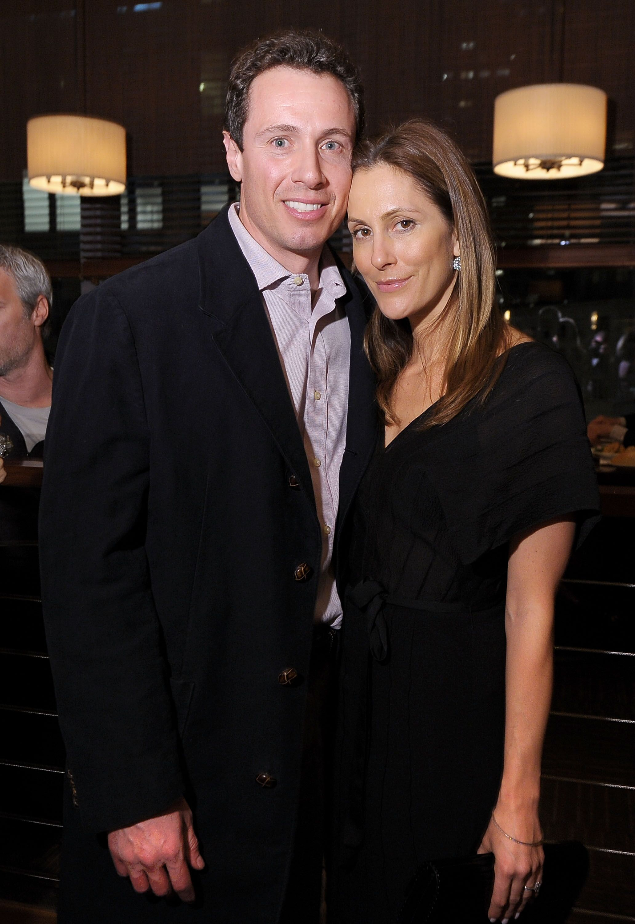 """Anchorman Chris Cuomo and wife, Gotham magazine editor-in-chief Cristina Greeven Cuomo attend the HBO Documentary Screening Of """"His Way"""" at Time Warner Center on March 30, 2011 
