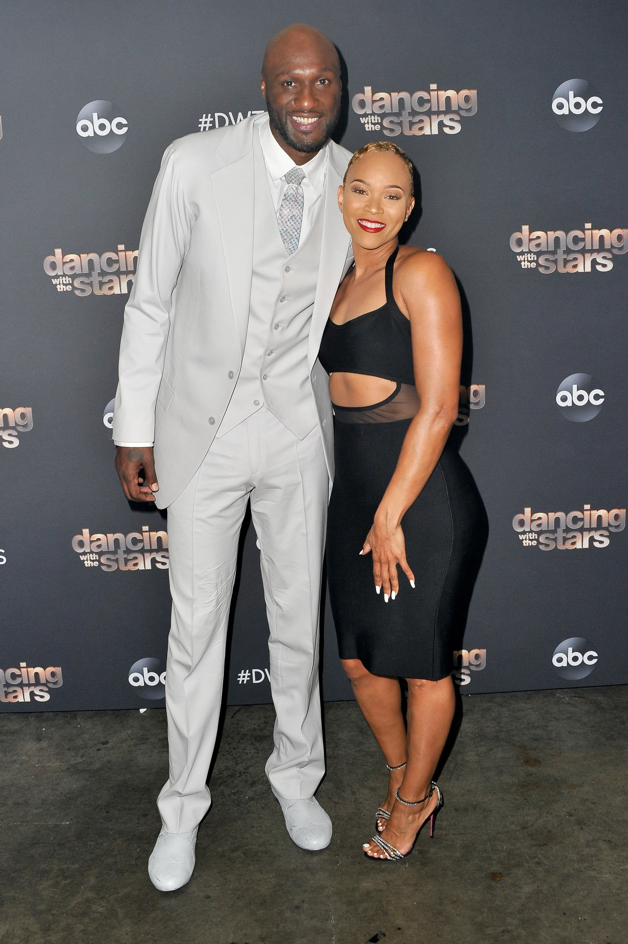 "Lamar Odom & Sabrina Parr at the ""Dancing With The Stars"" Season 28 show on Oct. 07, 2019 in California 