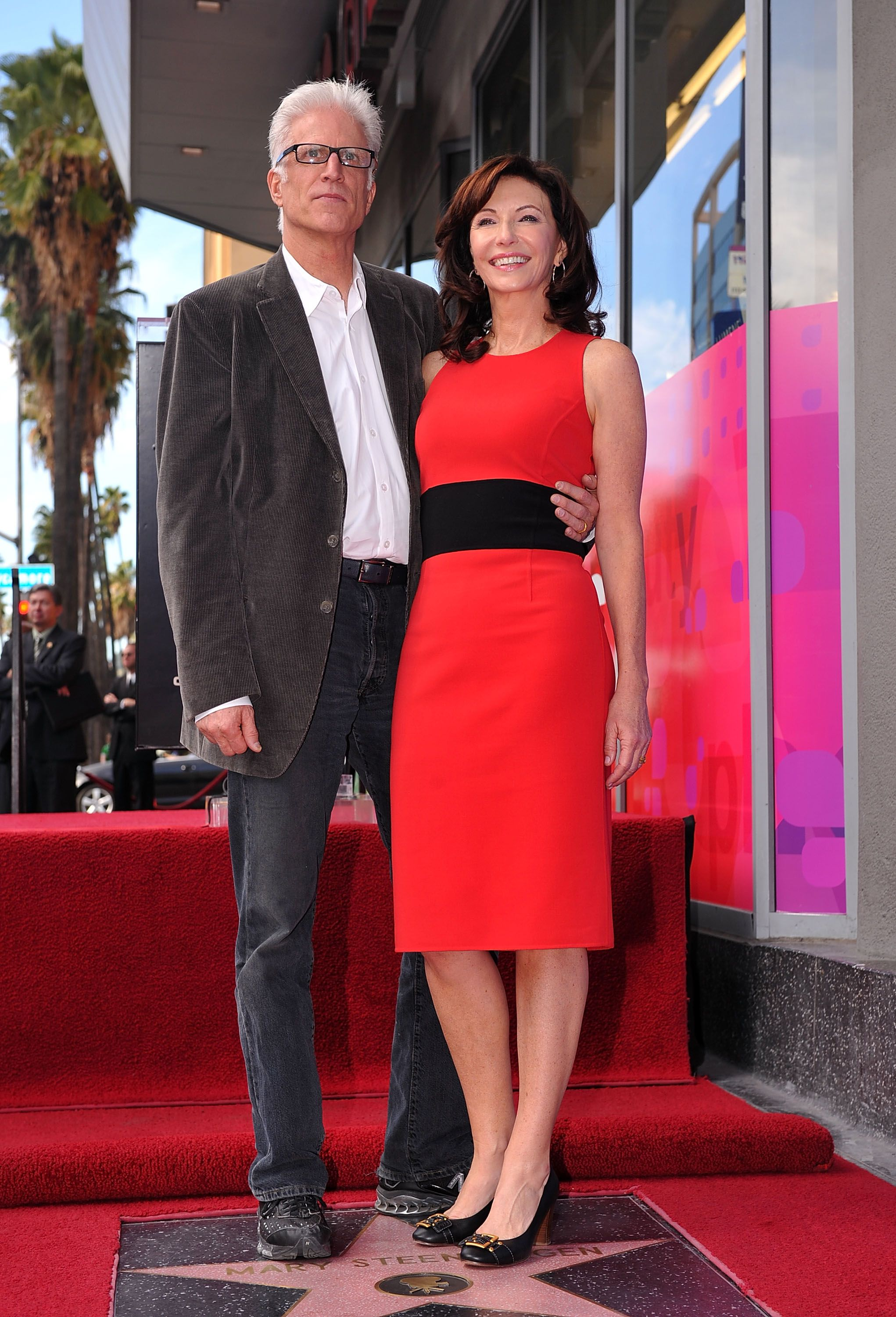 Ted Danson and Mary Steenburgen at The Hollywood Walk of Fame ceremony honoring Steenburgen in 2009 in Hollywood   Source: Getty Images