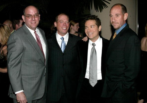 Gabriel Ferrer, Rafael Ferrer, recording artist Michael Feinstein and actor Miquel Ferrer attend the Rosemary Clooney's Life And Career Celebrated by her family at the Beverly Hilton Hotel on December 10, 2002, in Beverly Hills, California. | Source: Getty Images.