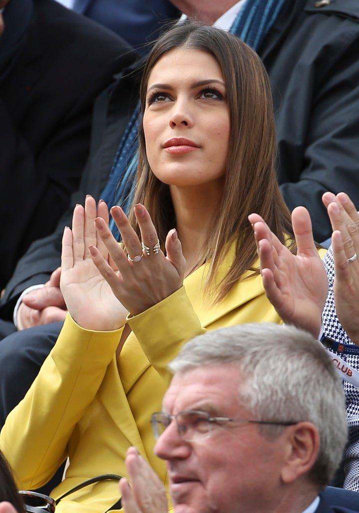Iris Mittenaere à Roland Garros en 2019. l Source : Getty Images