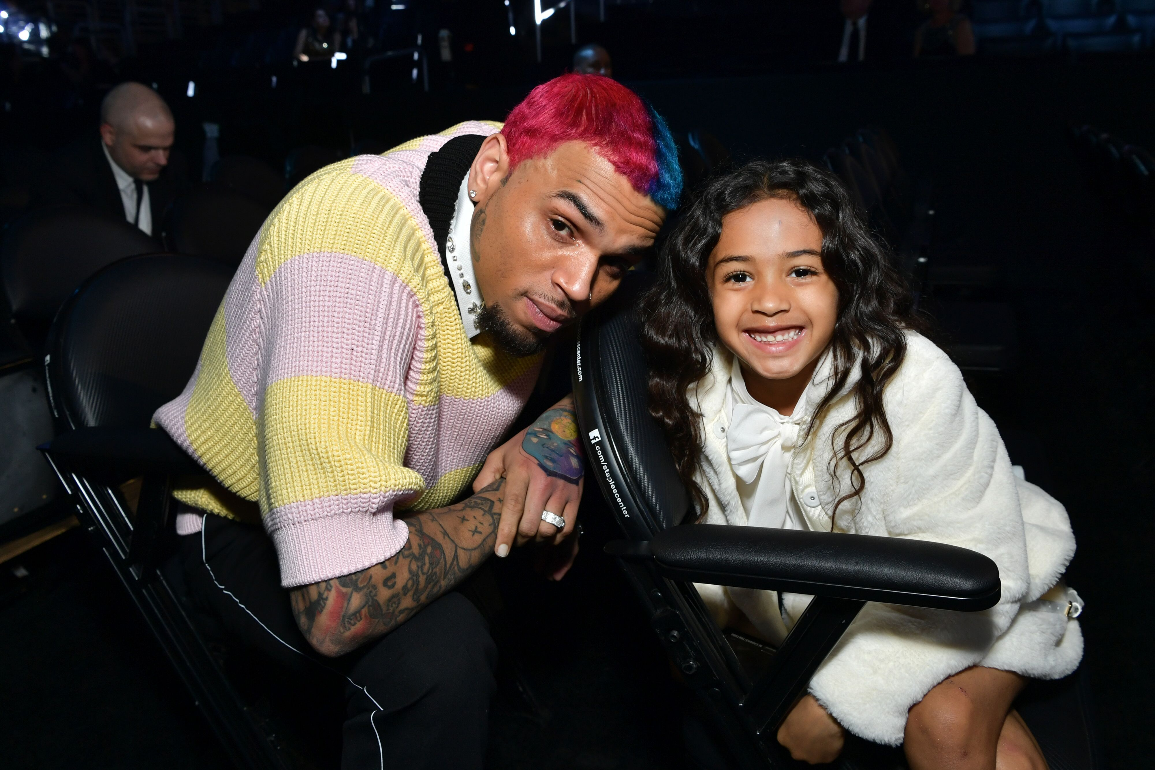 Chris Brown and daughter Royalty Brown at the 62nd Annual GRAMMY Awards in Los Angeles | Source: Getty Images