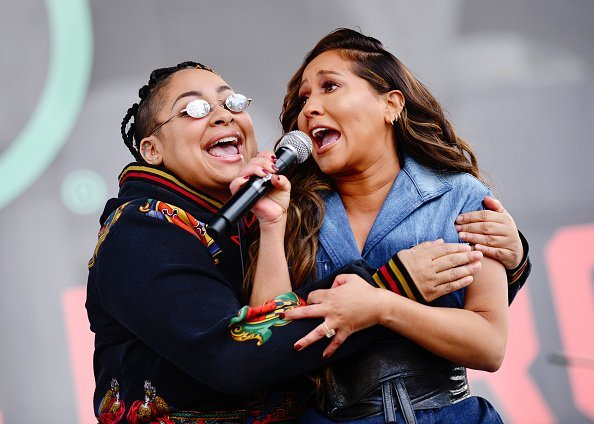 Raven-Symoné and Adrienne Bailon onstage at the 4th annual Women's March LA: Women Rising on January 18, 2020  | Photo:Getty Images