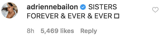 "Adrienne Bailon commented on Tamera Mowry's announcement about her departure from ""The Real"" 