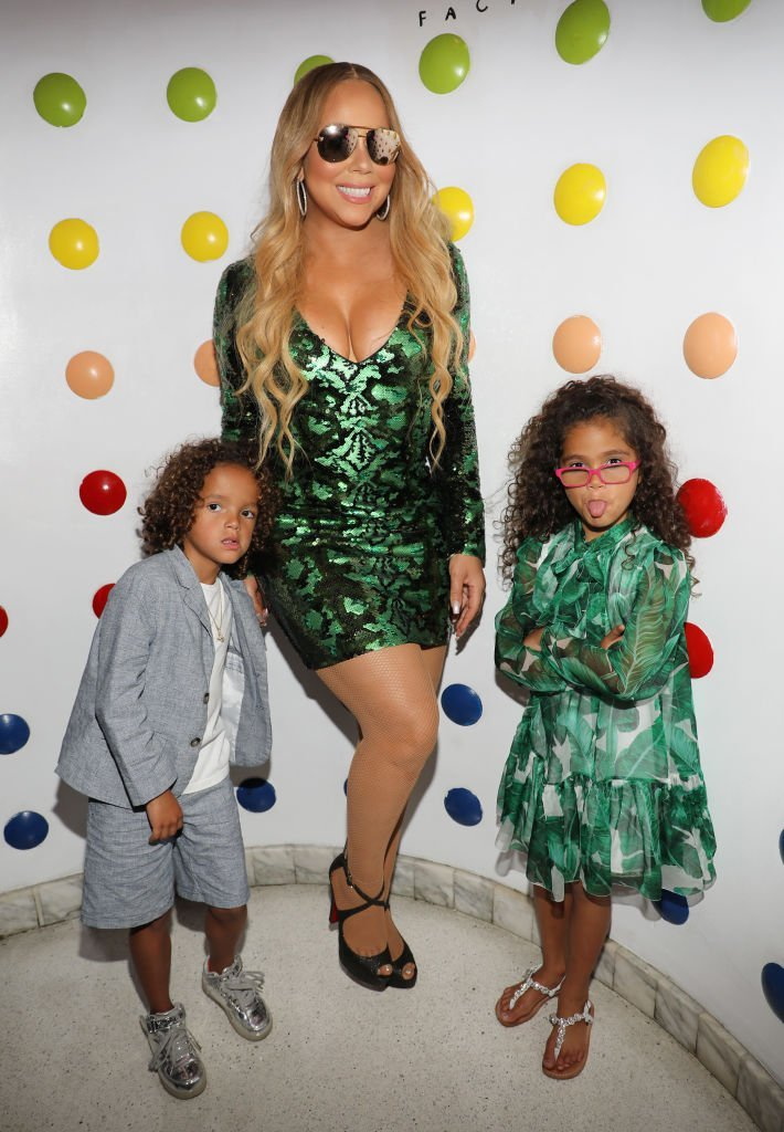 Mariah Carey and her children Moroccan and Monroe attend the Mariah Carey concert after party at Sugar Factory American Brasserie on Ocean Drive | Photo: Getty Images