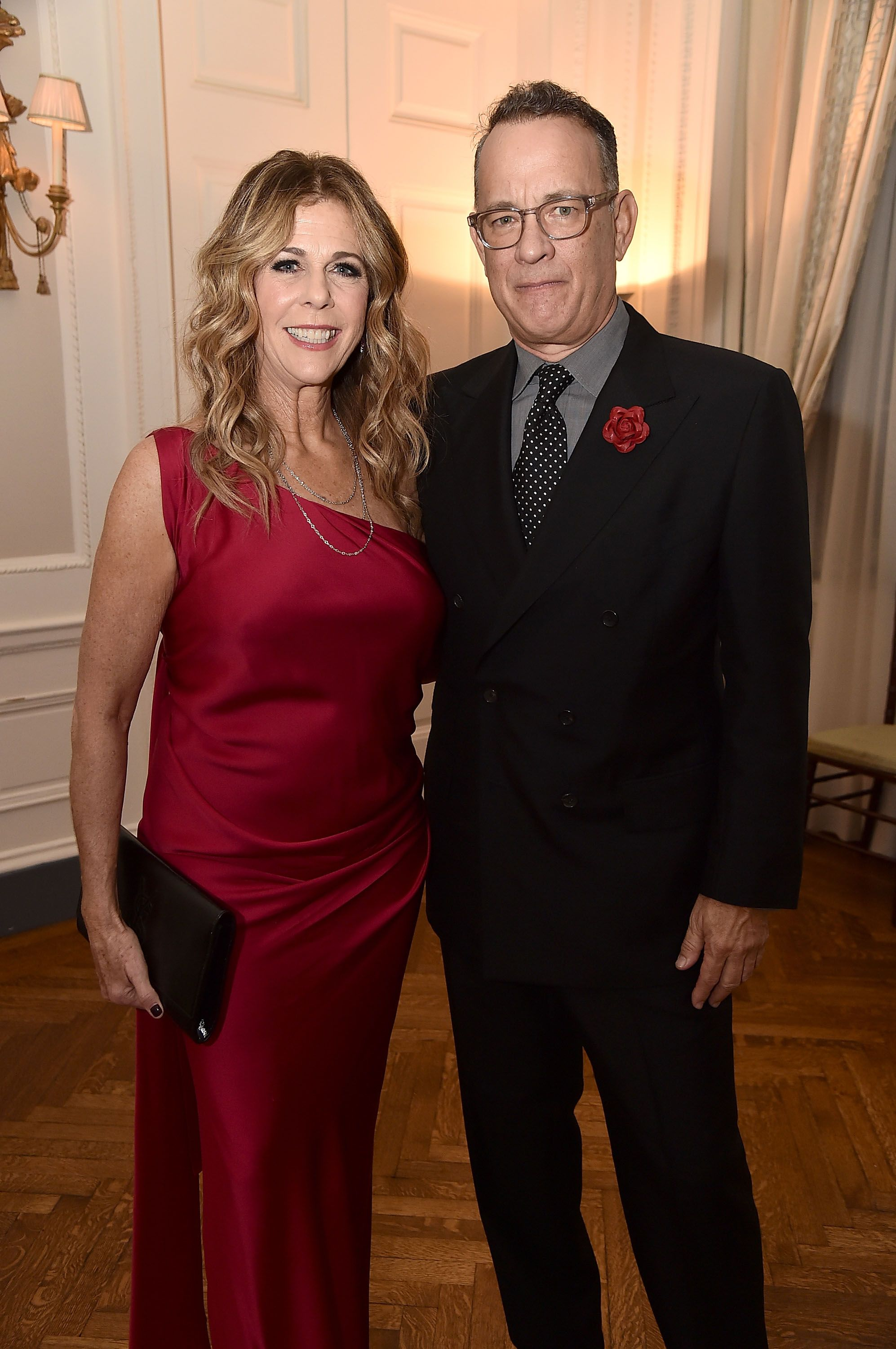 Rita Wilson and Tom Hanks at the American Friends of Blerancourt Dinner at Colony Club on November 9, 2018 | Photo: Getty Images