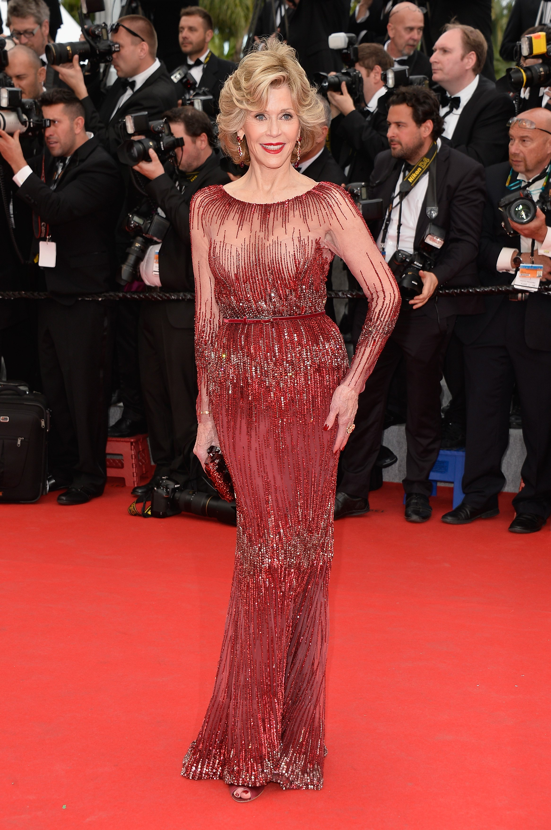 """Jane Fonda attends the Opening ceremony and the """"Grace of Monaco"""" Premiere during the 67th Annual Cannes Film Festival on May 14, 2014 in Cannes, France 