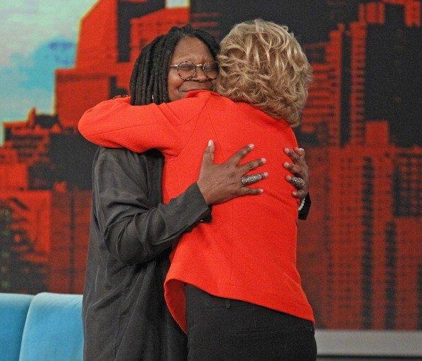 Barbara Walters and Whoopi Goldberg sharing a hug   Photo: Getty Images