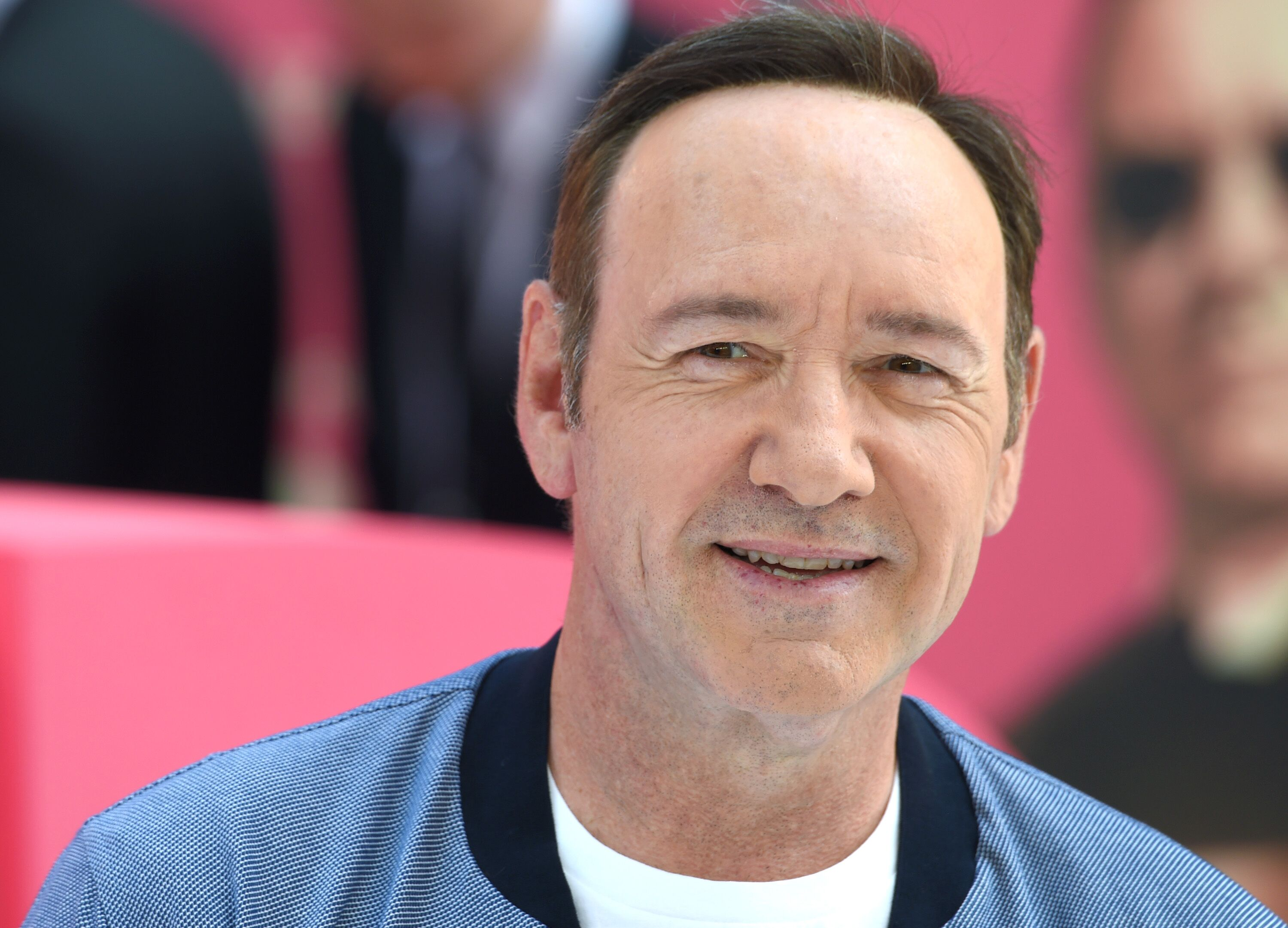 "Kevin Spacey attends the European premiere of ""Baby Driver."" 