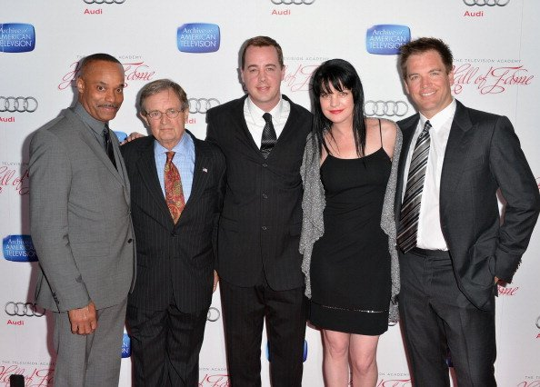 Rocky Carroll, David McCallum, Sean Murray, Pauley Perrette und Michael Weatherly, 22nd Annual Hall Of Fame Induction Gala | Quelle: Getty Images