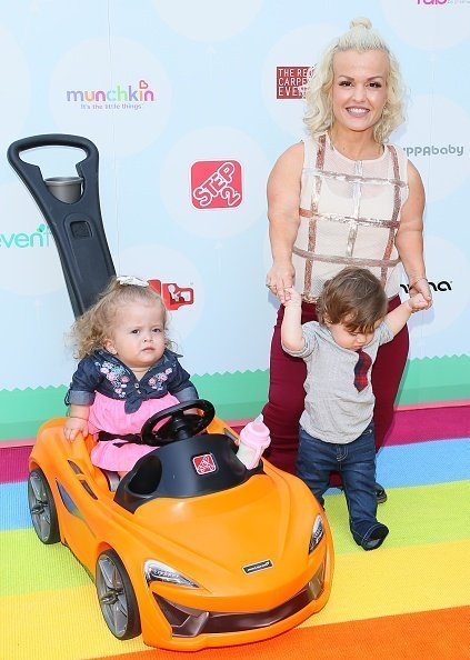 Terra Jole, Penelope Gnoffo and Grayson Gnoffo attend the 6th Annual Celebrity Red CARpet Safety Awareness Event in Culver City, California | Photo: Getty Images