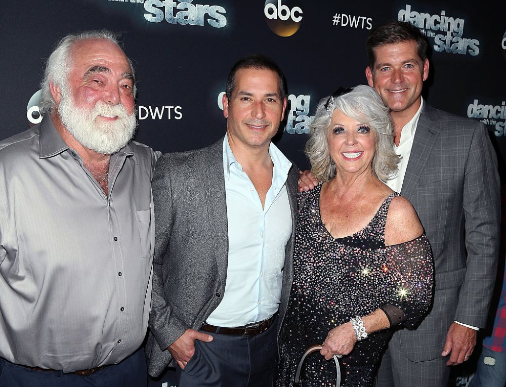 "Michael Groover, Bobby Deen,  Paula Deen, and Jamie Deen attending ""Dancing with the Stars"" Season 21 in Los Angeles, California, in October 2015.  