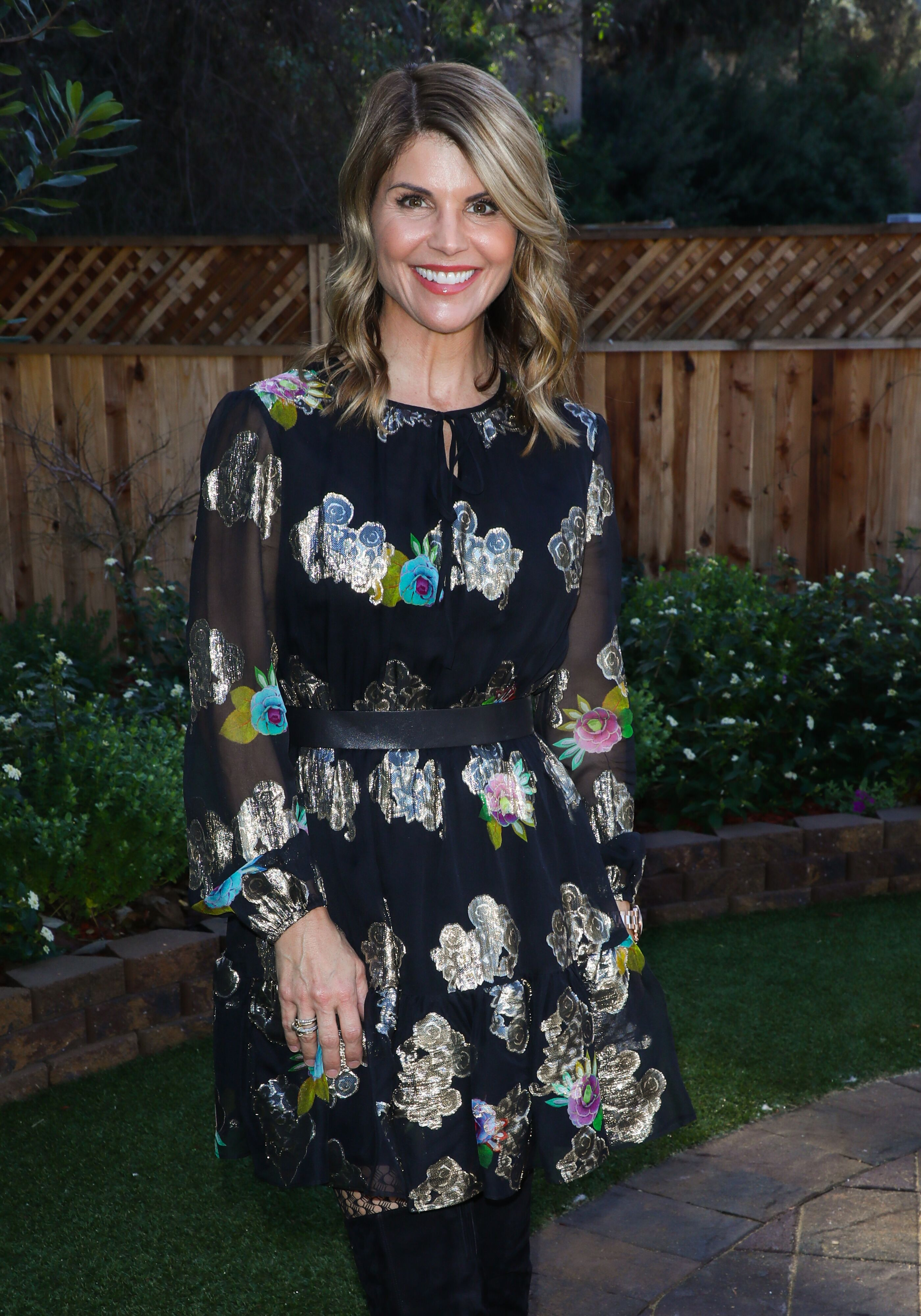 """Lori Loughlin visits Hallmark's """"Home & Family"""" at Universal Studios Hollywood on December 19, 2018 in Universal City, California.  