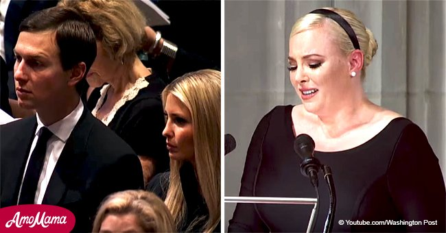 Meghan McCain didn't expect to see Ivanka at her dad's funeral as she gave an anti-Trump eulogy