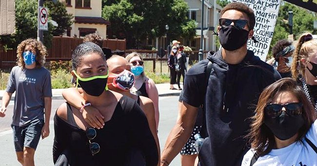 Stephen Curry's Wife Ayesha and Daughter Riley Join George Floyd Protests