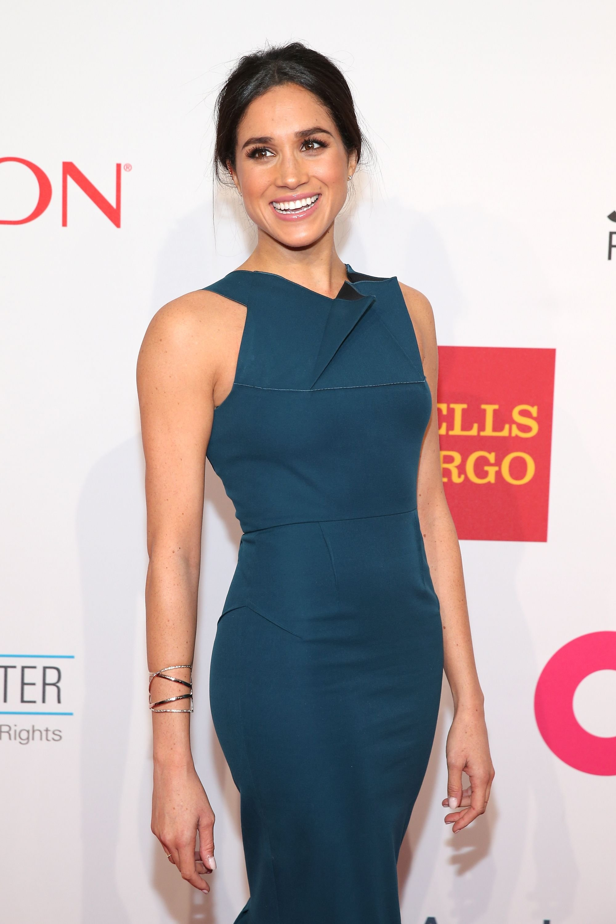 Meghan Markle during the Elton John AIDS Foundation's 13th Annual An Enduring Vision Benefit on October 28, 2014, in New York City. | Source: Getty Images