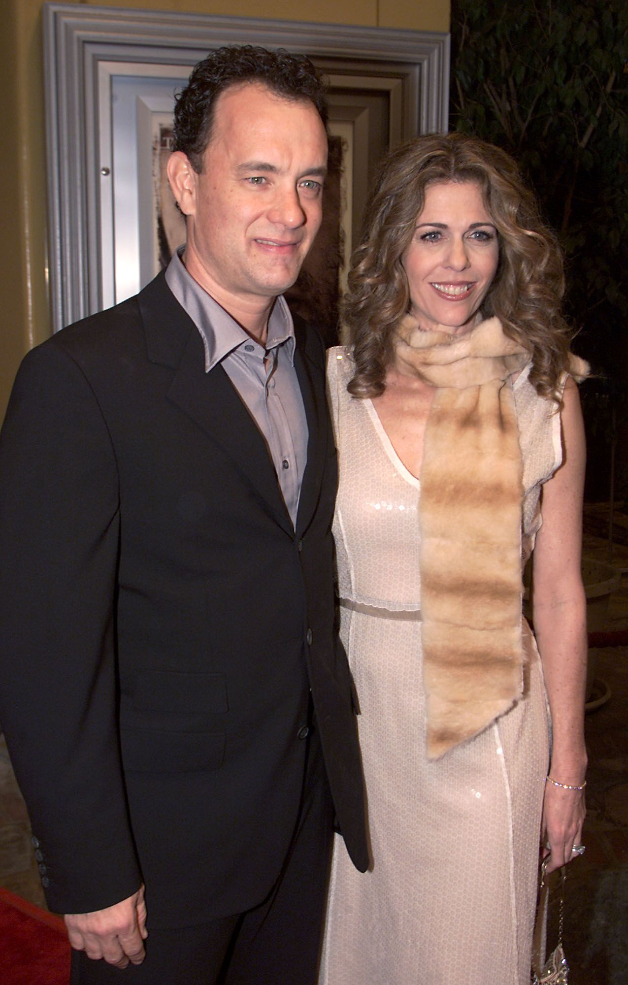 "Tom Hanks and Rita Wilson at the premiere of ""Castaway."" 