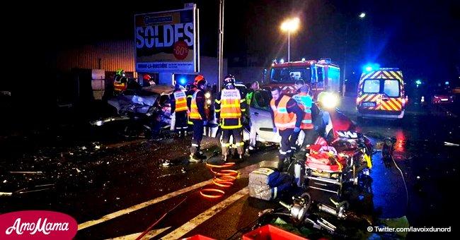 Accident de la route à Houdain: deux morts sur place, un enfant de 2 ans et un homme